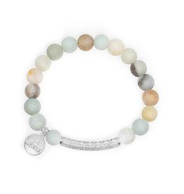 Lia Lubiana Amazonite Silver Gemma Bracelet
