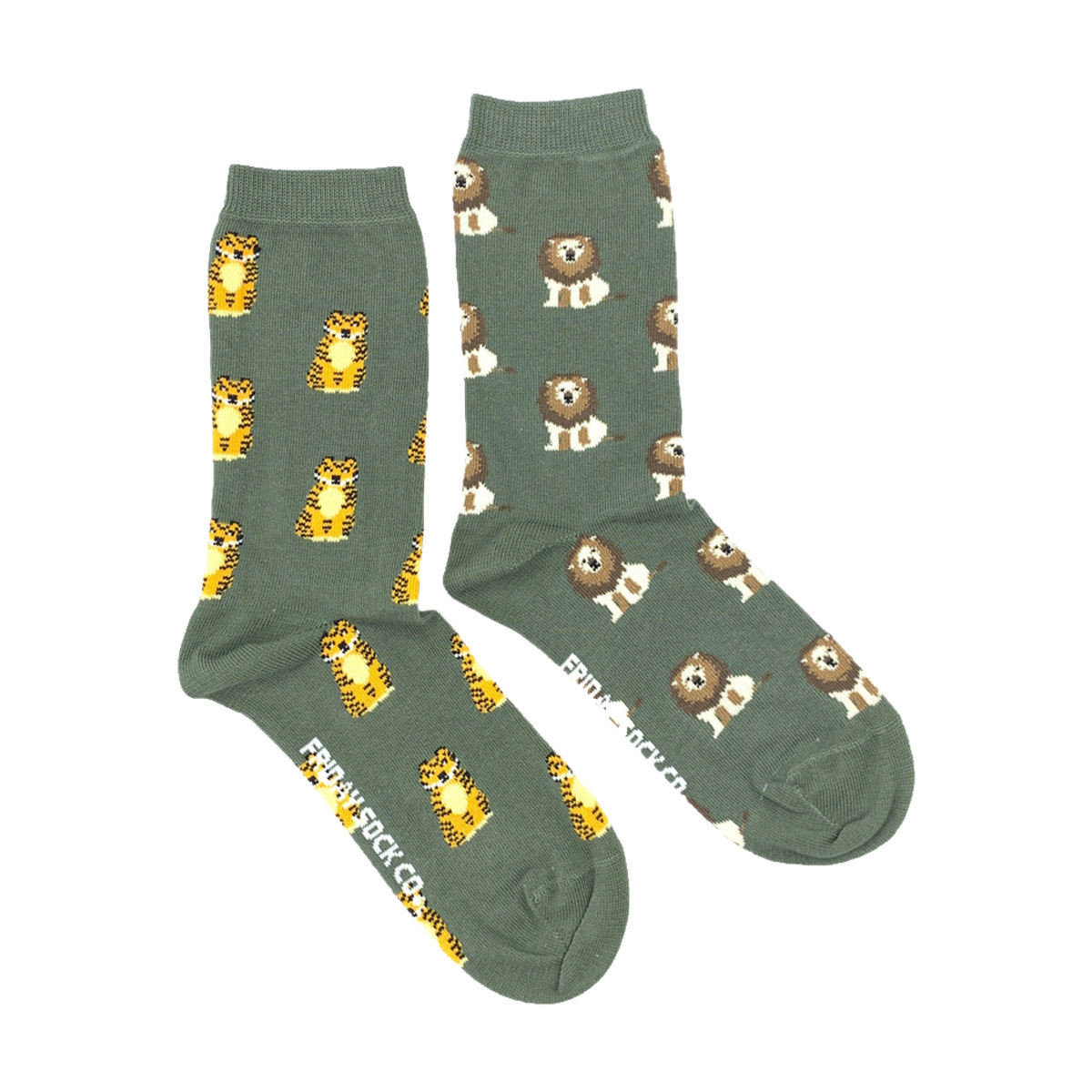 Friday Sock Co. Friday Sock Co. Women's Lion & Tiger Crew W 5 - 10 (M - 4 - 8)
