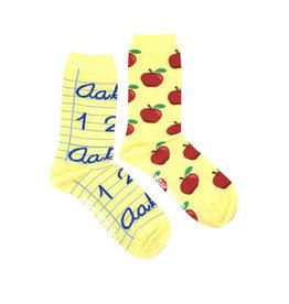 Friday Sock Co. Women's Teacher's Apple 5 - 10 (M - 4 - 8)
