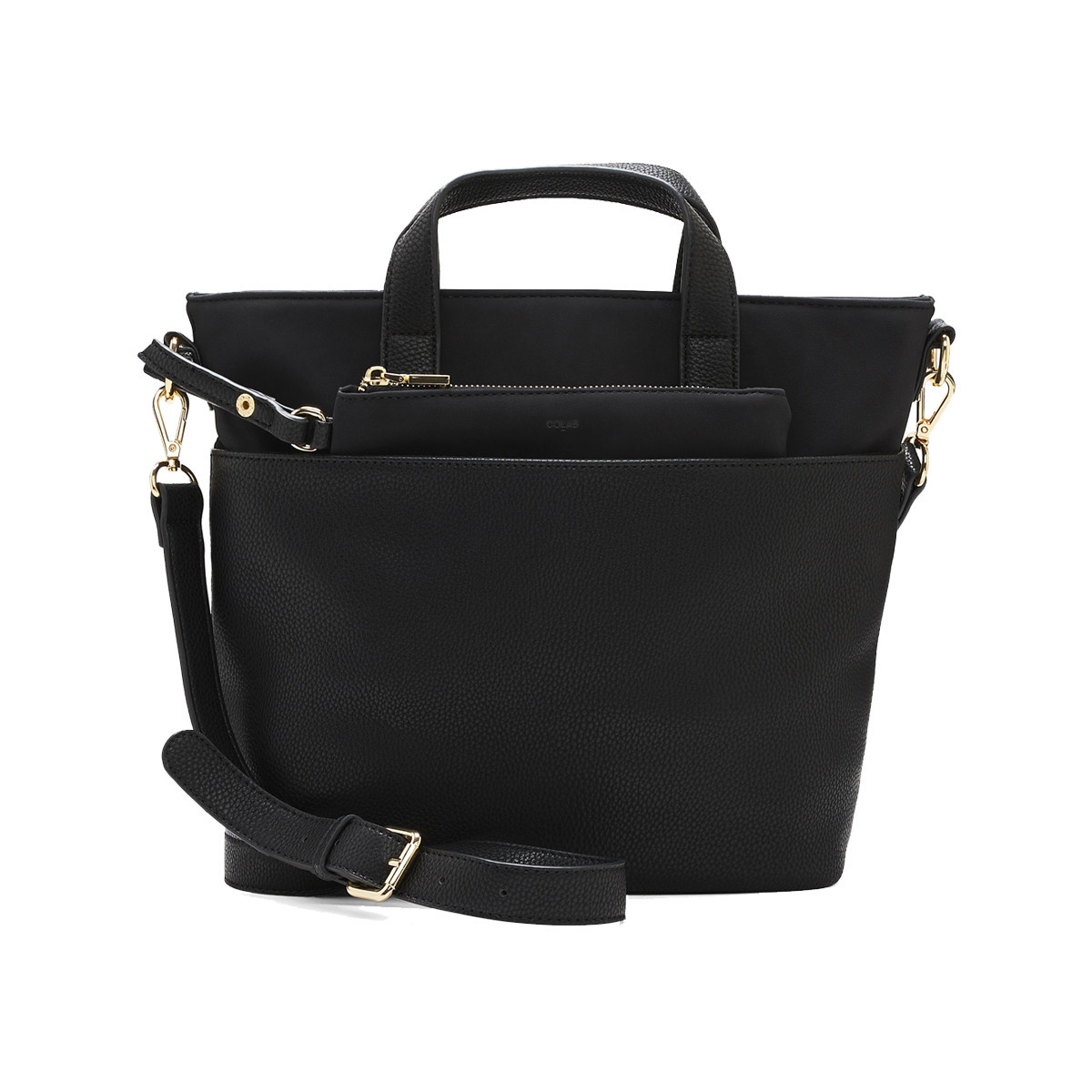 Colab Colab Suede Tote Removable Pouch