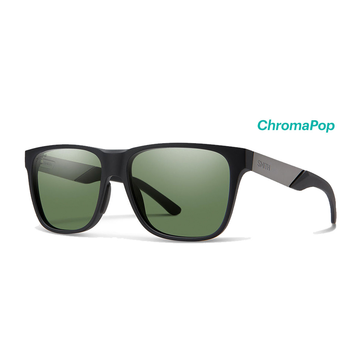 Smith Smith Lowdown Steel Matte Black Ruthenium / Gray Green Lens