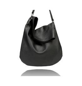 La Volta Large Hobo Flora Black