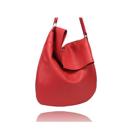 La Volta Large Hobo Flora Red