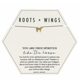 Roots + Wings Horse Necklace