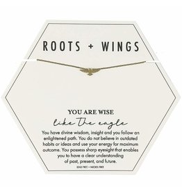 Roots + Wings Eagle Necklace