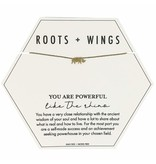 Mary Square Roots + Wings Rhino Necklace