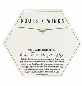 Roots + Wings Dragonfly Necklace