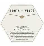 Mary Square Roots + Wings Bee Necklace