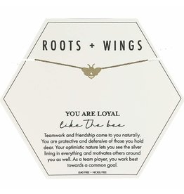 Roots + Wings Bee Necklace