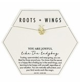 Mary Square Roots + Wings Ladybug Necklace