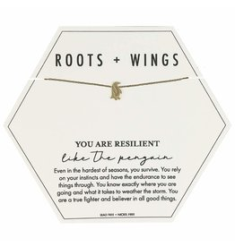 Roots + Wings Penguin Necklace