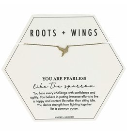 Roots + Wings Sparrow Necklace