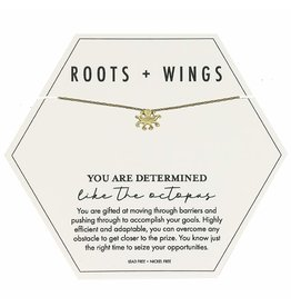 Roots + Wings Octopus Necklace