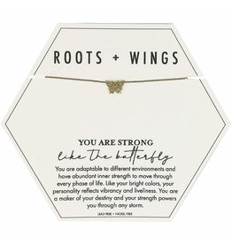 Roots + Wings Butterfly Necklace