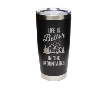 Life is Better...Mountains Tumbler Black