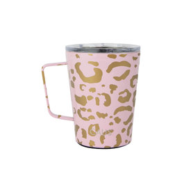 Caus Tumbler with Handle Pink Leapord