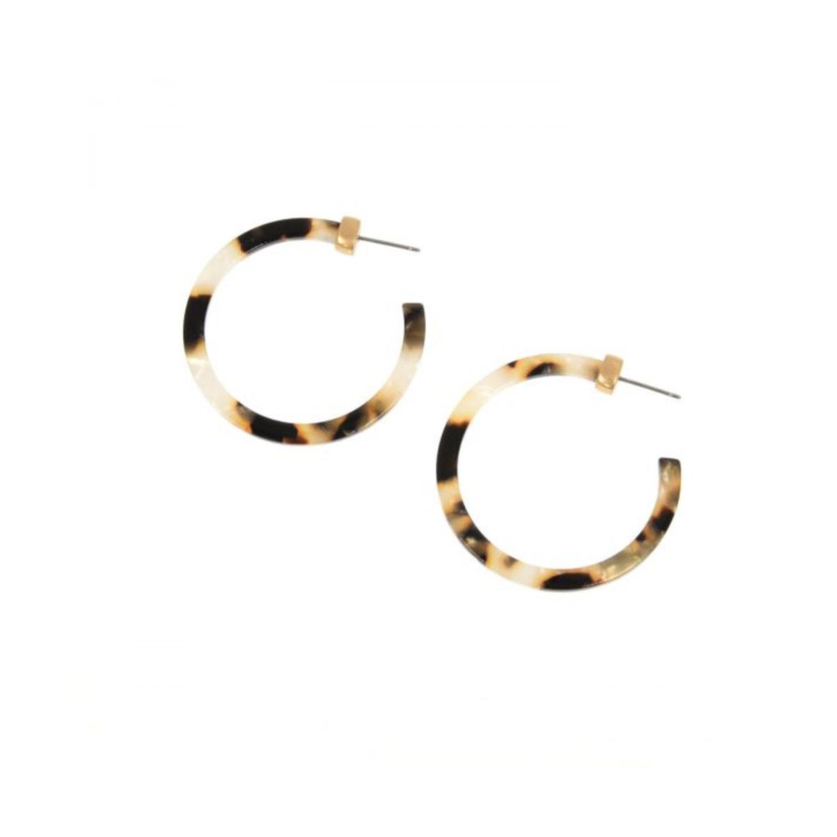 Joy Susan Joy Susan Hoop Resin Post Earrings
