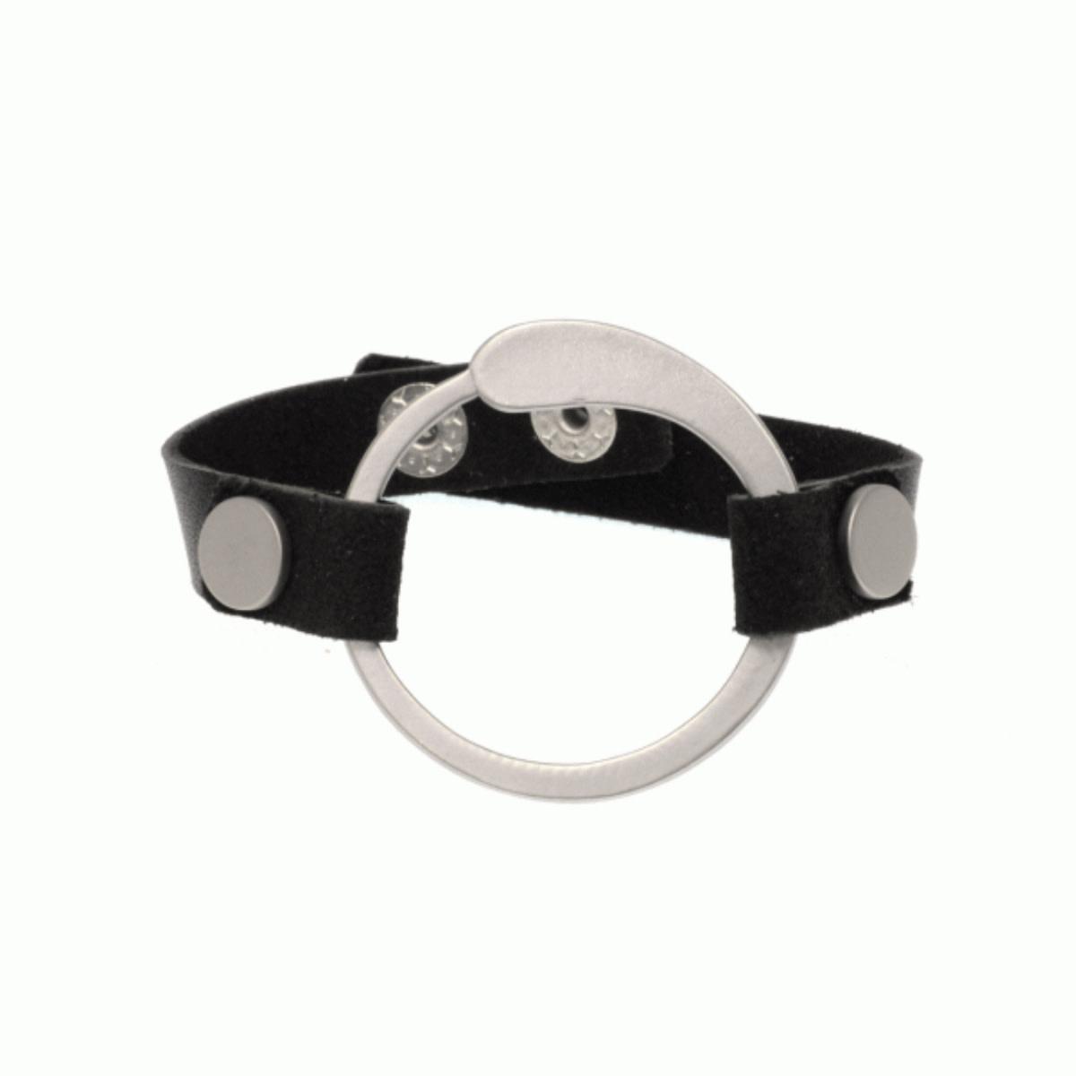 Joy Susan Joy Susan Leather Teardrop Circle Bracelet