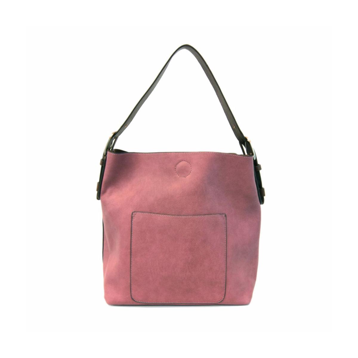 Joy Susan Joy Susan Classic Hobo Handbag Dark Raspberry