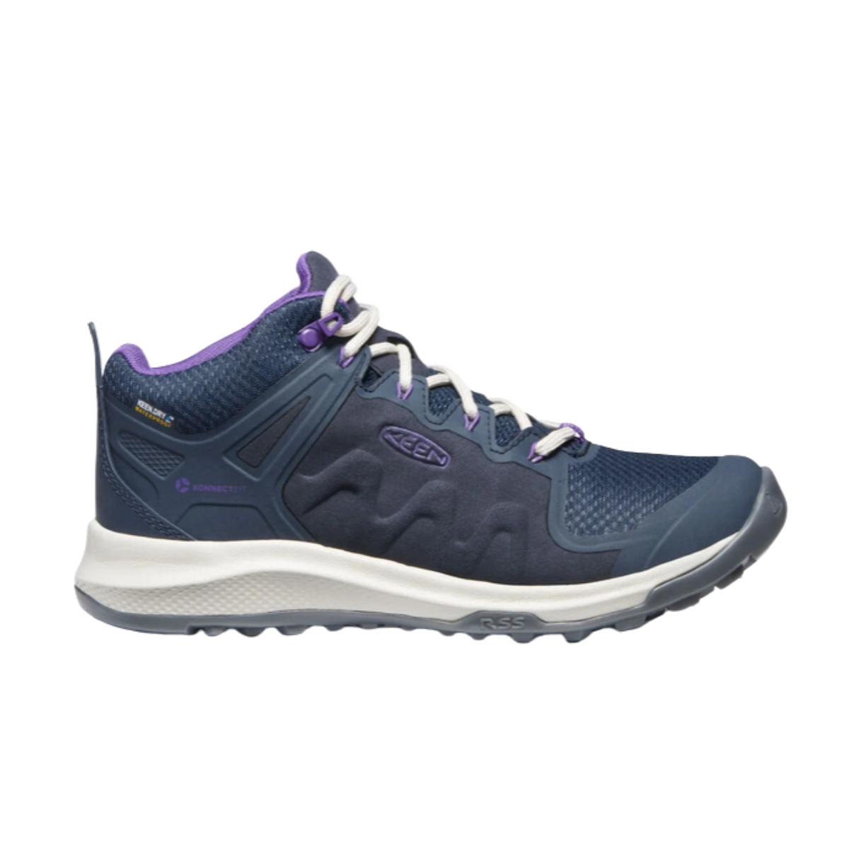 Keen Keen Women's Explore Mid WP Blue / Silver Birch