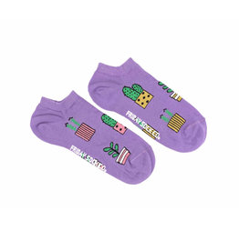 Friday Sock Co. Women's Purple Potted Plants Ankle W 5 - 10 (M - 4 - 8)
