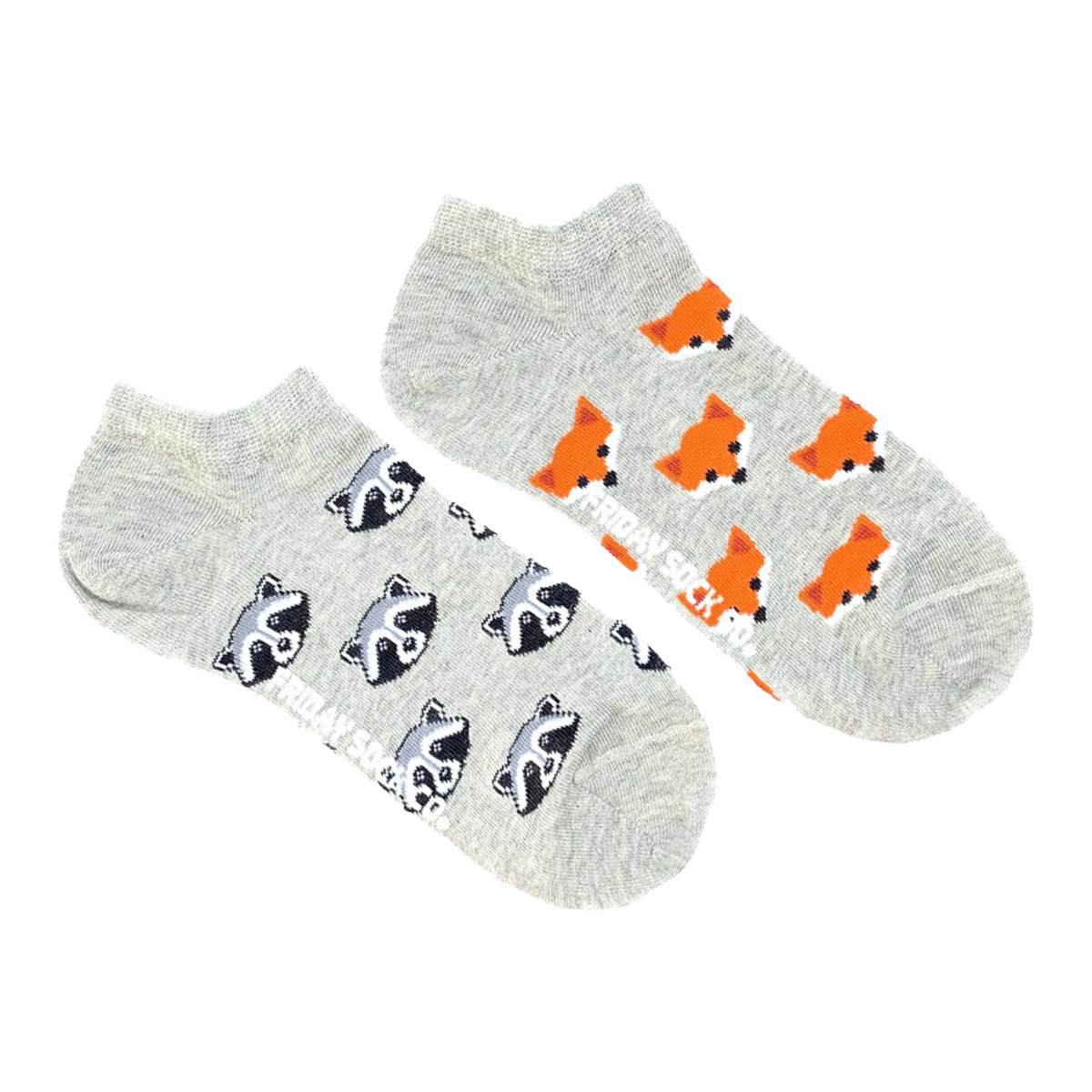 Friday Sock Co. Friday Sock Co. Women's Fox & Raccoon Ankle W 5 - 10 (M - 4 - 8)