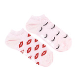 Friday Sock Co. Friday Sock Co. Women's Lips & Wink Ankle W 5 - 10 (M - 4 - 8)