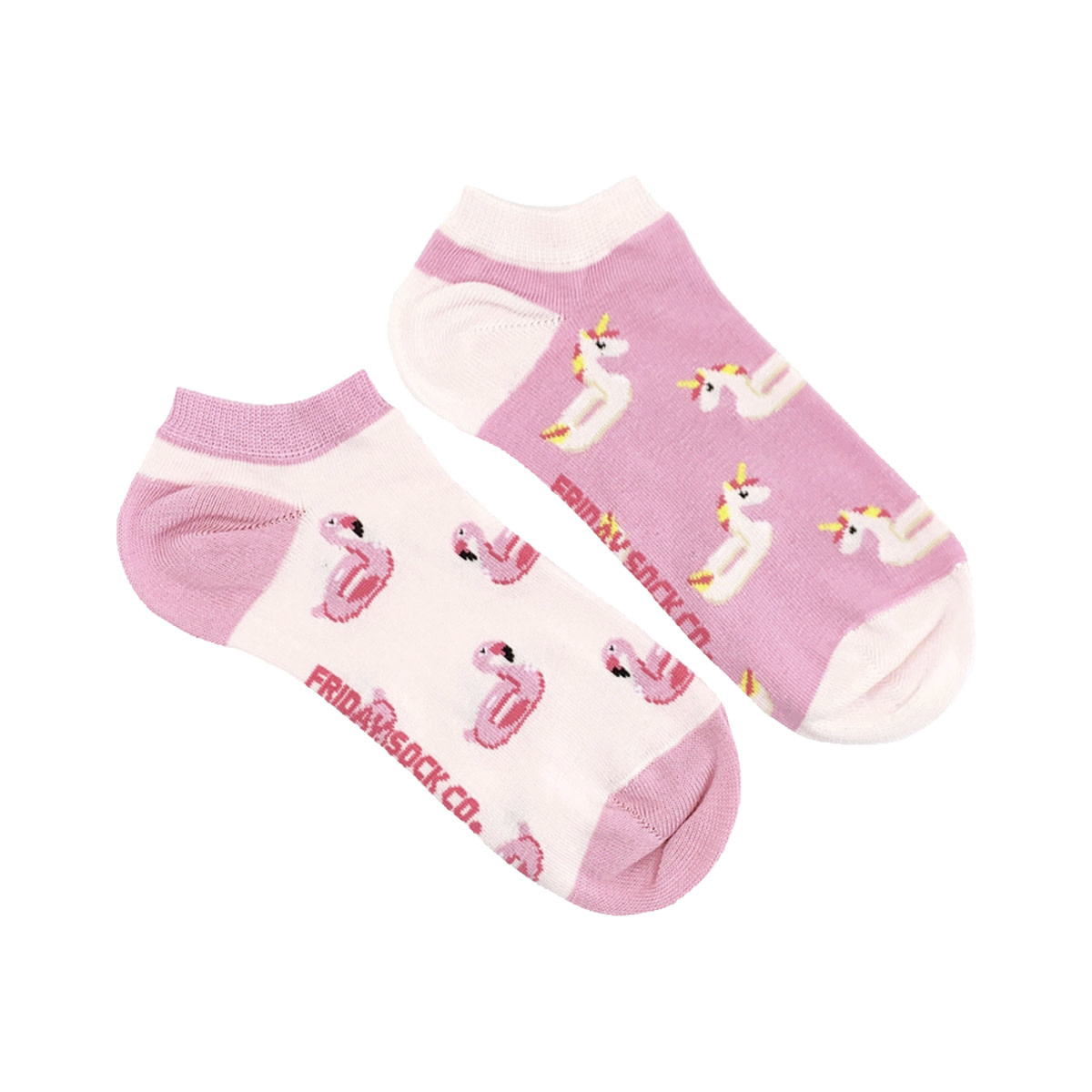 Friday Sock Co. Friday Sock Co. Women's Unicorn & Flamingo Ankle W 5 - 10 (M - 4 - 8)
