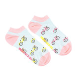 Friday Sock Co. Friday Sock Co. Women's Pink & Yellow Bicycle Ankle W 5 - 10 (M - 4 - 8)