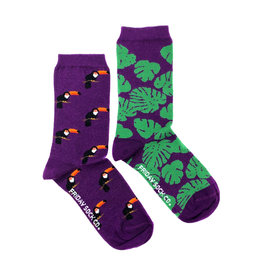 Friday Sock Co. Women's Toucan & Monstera Crew W 5 - 10 (M - 4 - 8)