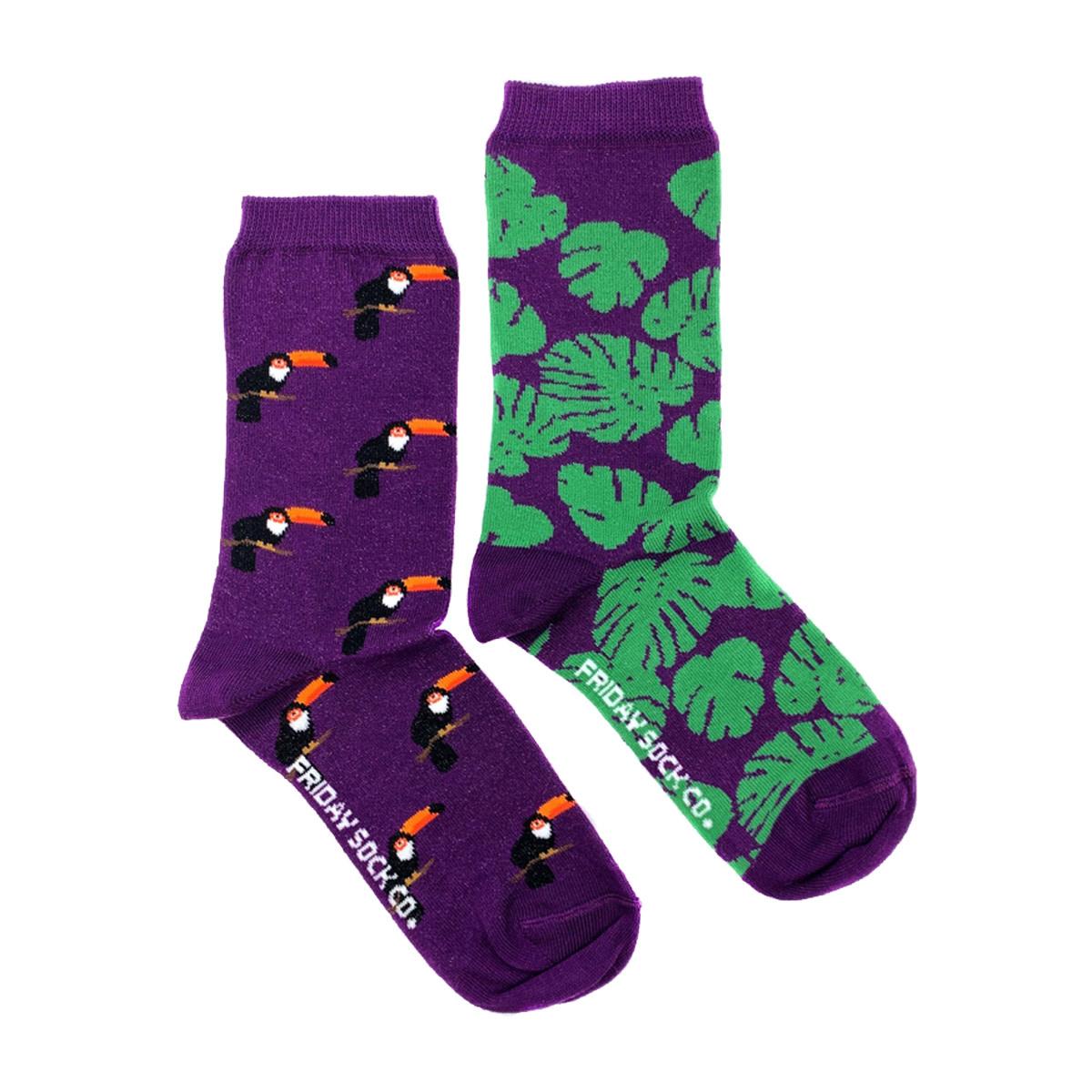 Friday Sock Co. Friday Sock Co. Women's Toucan & Monstera Crew W 5 - 10 (M - 4 - 8)