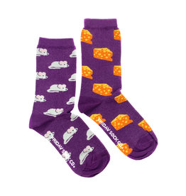 Friday Sock Co. Women's Mouse & Cheese Crew W 5 - 10 (M - 4 - 8)