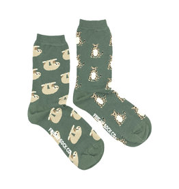 Friday Sock Co. Women's Cheetah & Sloth Crew W 5 - 10 (M - 4 - 8)