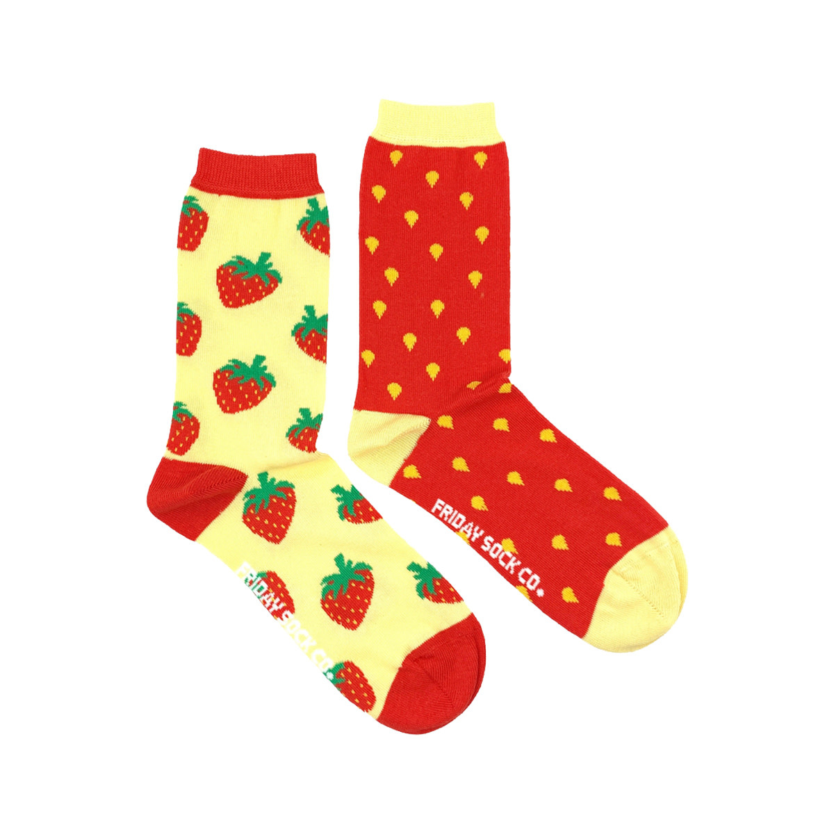 Friday Sock Co. Friday Sock Co. Women's Inside Out Strawberry Crew W 5 - 10 (M - 4 - 8)