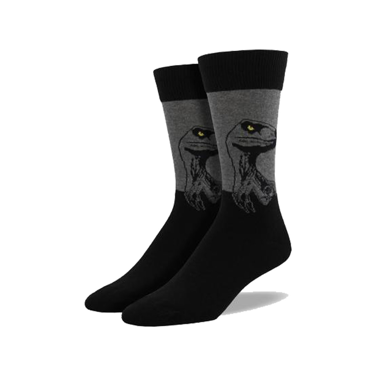 Socksmith Socksmith Men's Cotton Crew Socks King Size Raptor Charcoal M 12 - 15