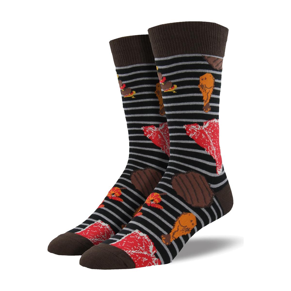 Socksmith Socksmith Men's Cotton Crew Socks Grillin N Chillin Black M 7 - 12.5