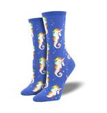 Socksmith Socksmith Women's Cotton Blend Sea Unicorn Blue W 5 - 10.5
