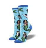 Socksmith Socksmith Women's Cotton Blend Swimming With Sirens Blue W 5 - 10.5