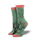 Socksmith Socksmith Women's Bamboo Socks Cherry Blossoms Jade W 5 - 10.5