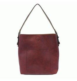 Joy Susan Classic Hobo Handbag Merlot