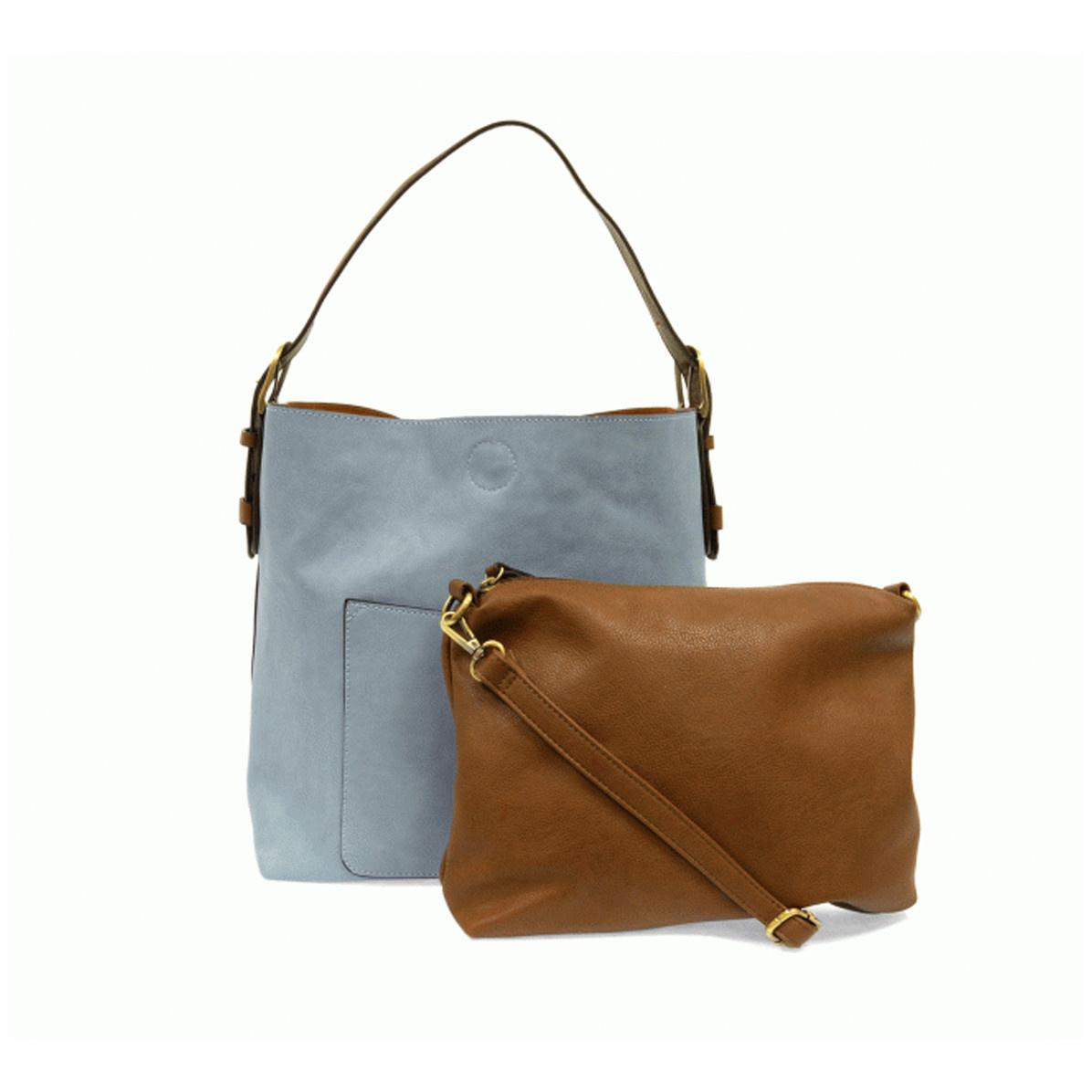 Joy Susan Joy Susan Classic Hobo Handbag Seersucker Blue