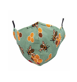 Socksmith Mask Busy Bees Seafoam