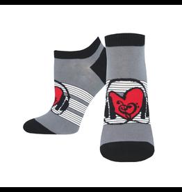 Socksmith Women's Shorties Heart Beats Gray W 5 - 10.5