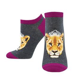 Socksmith Women's Shorties Queen of the Pride Grey W 5 - 10.5