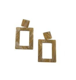 Joy Susan Resin Rectangle Natrual Earrings