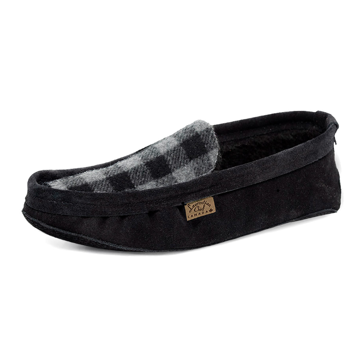 Laurentian Chief Men's Slipper Grey Plaid