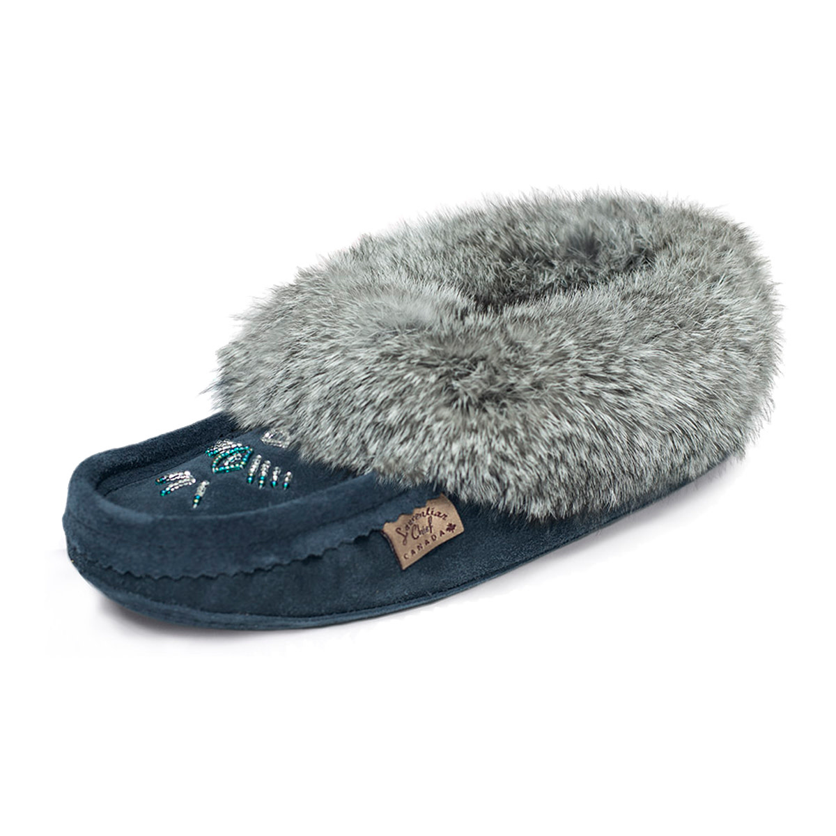 Laurentian Chief Women's Moccasins Navy