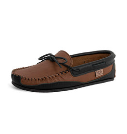 Laurentian Chief Men's Moccasins Crepe Sole Brown