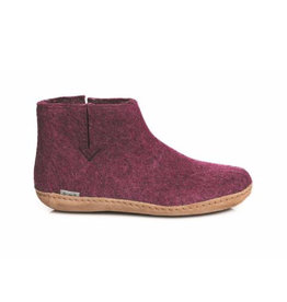 Glerups Women's Boot Leather Sole Cranberry