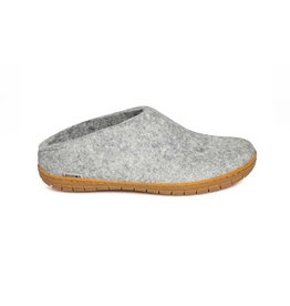 Glerups Women's Slipper Rubber Sole Grey